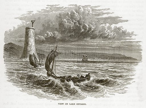 View on Lake Ontario. Illustration from The Countries of the World by Robert Brown (Cassell, c 1890).