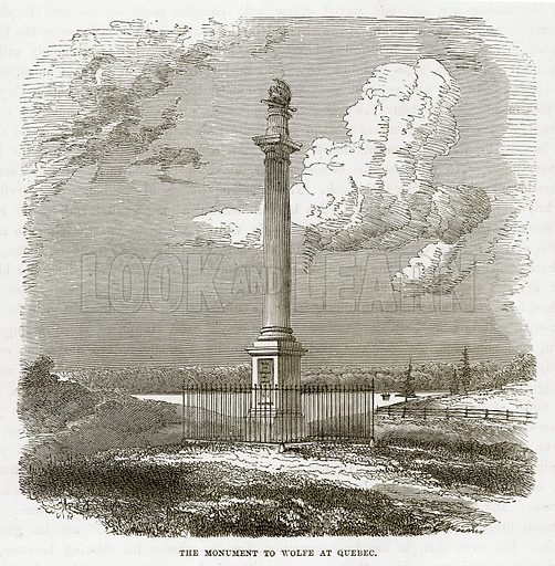 The Monument to Wolfe at Quebec. Illustration from The Countries of the World by Robert Brown (Cassell, c 1890).
