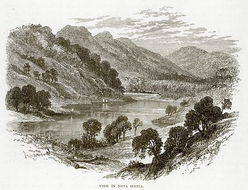View in Nova Scotia. Illustration from The Countries of the World by Robert Brown (Cassell, c 1890).