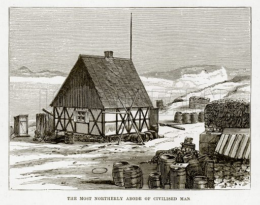 The Most Northerly Abode of Civilised Man. Illustration from The Countries of the World by Robert Brown (Cassell, c 1890).