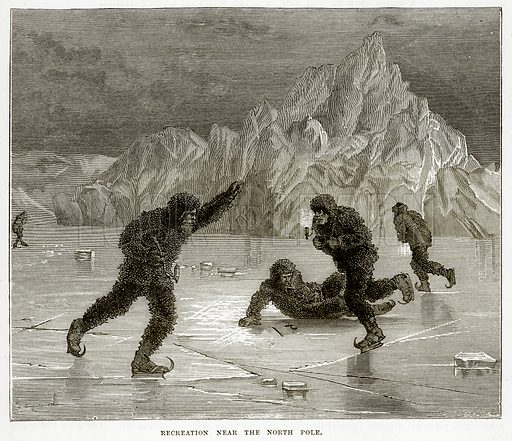 Recreation near the North Pole. Illustration from The Countries of the World by Robert Brown (Cassell, c 1890).