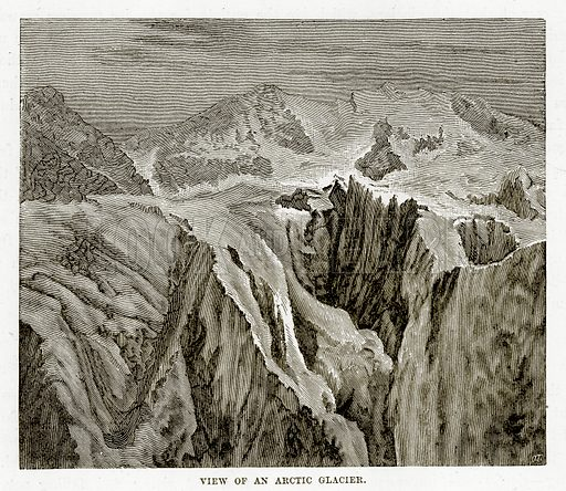 View of an Arctic Glacier. Illustration from The Countries of the World by Robert Brown (Cassell, c 1890).