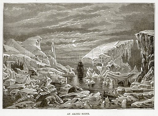 An Arctic Scene. Illustration from The Countries of the World by Robert Brown (Cassell, c 1890).