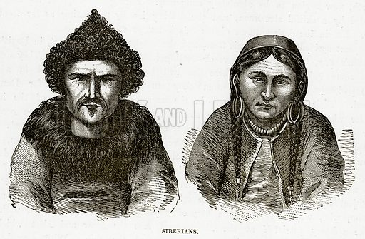 Siberians. Illustration from The Countries of the World by Robert Brown (Cassell, c 1890).