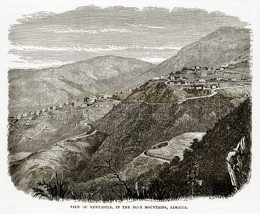 View of Newcastle, in the Blue Mountains, Jamaica. Illustration from The Countries of the World by Robert Brown (Cassell, c 1890).