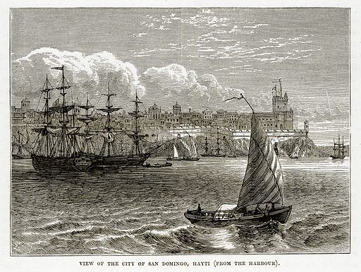 View of the City of San Domingo, Hayti. Illustration from The Countries of the World by Robert Brown (Cassell, c 1890).