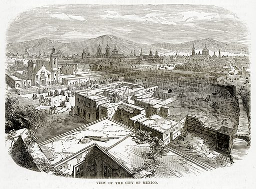 View of the City of Mexico. Illustration from The Countries of the World by Robert Brown (Cassell, c 1890).