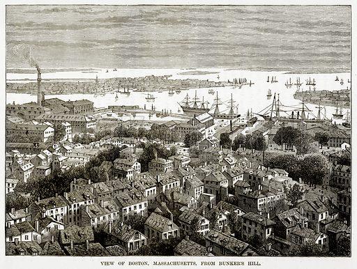 View of Boston, Massachusetts, from Bunker
