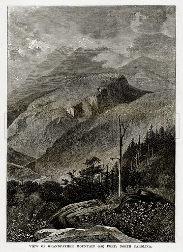 View of Grandfather Mountain (5,897 Feet), North Carolina. Illustration from The Countries of the World by Robert Brown (Cassell, c 1890).