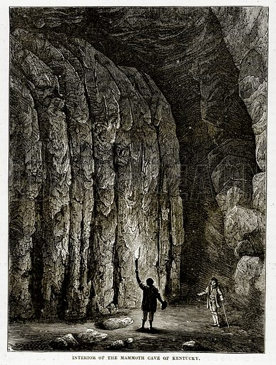 Interior of the Mammoth Cave of Kentucky. Illustration from The Countries of the World by Robert Brown (Cassell, c 1890).