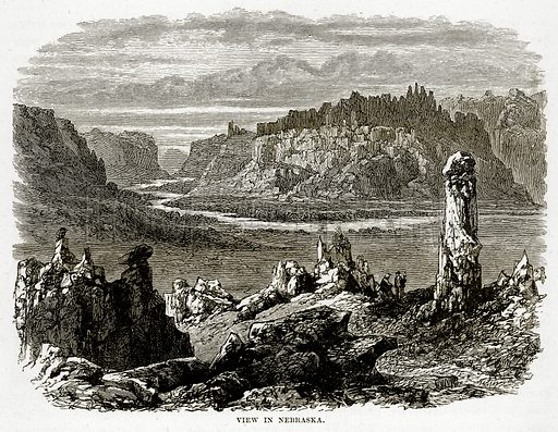 View in Nebraska. Illustration from The Countries of the World by Robert Brown (Cassell, c 1890).