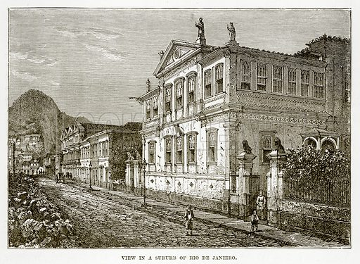 View in a Suburb of Rio de Janeiro. Illustration from The Countries of the World by Robert Brown (Cassell, c 1890).