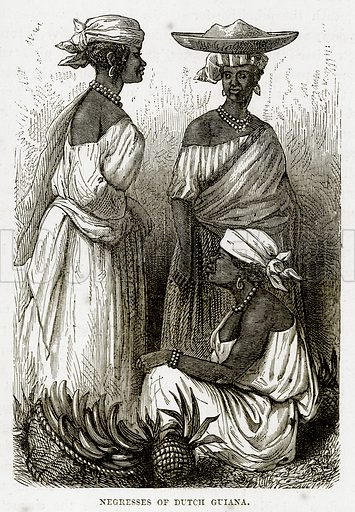 Negresses of Dutch Guiana. Illustration from The Countries of the World by Robert Brown (Cassell, c 1890).