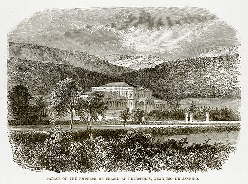 Palace of the Emperor of Brazil at Petropolis, near Rio de Janeiro. Illustration from The Countries of the World by Robert Brown (Cassell, c 1890).