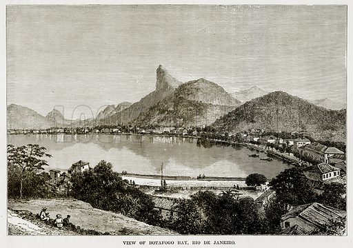 View of Botafogo Bay, Rio de Janeiro. Illustration from The Countries of the World by Robert Brown (Cassell, c 1890).