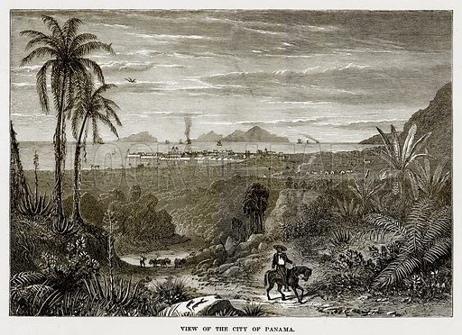 View of the City of Panama. Illustration from The Countries of the World by Robert Brown (Cassell, c 1890).