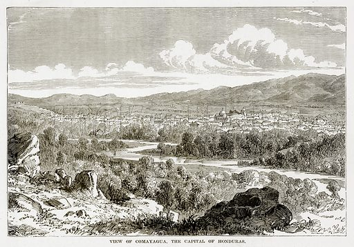 View of Comayagua, the Capital of Honduras. Illustration from The Countries of the World by Robert Brown (Cassell, c 1890).