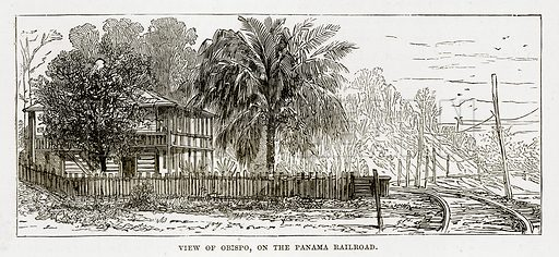 View of Obispo, on the Panama Railroad. Illustration from The Countries of the World by Robert Brown (Cassell, c 1890).