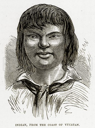 Indian, from the Coast of Yucatan. Illustration from The Countries of the World by Robert Brown (Cassell, c 1890).