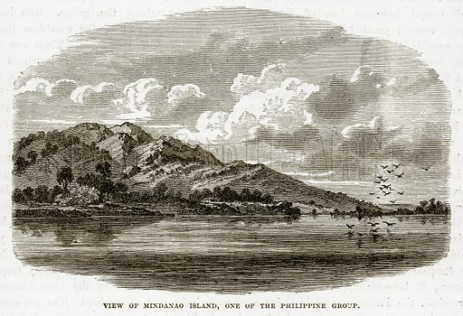 View of Mindanao Island, one of the Philippine Group. Illustration from The Countries of the World by Robert Brown (Cassell, c 1890).