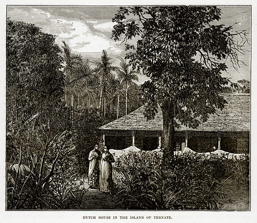 Dutch House in the Island of Ternate. Illustration from The Countries of the World by Robert Brown (Cassell, c 1890).