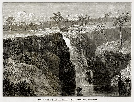 View of the Lal-Lall Falls, near Ballarat, Victoria. Illustration from The Countries of the World by Robert Brown (Cassell, c 1890).