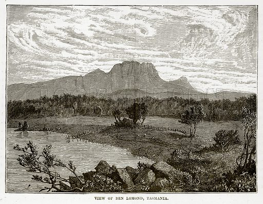 View of Ben Lomond, Tasmania. Illustration from The Countries of the World by Robert Brown (Cassell, c 1890).