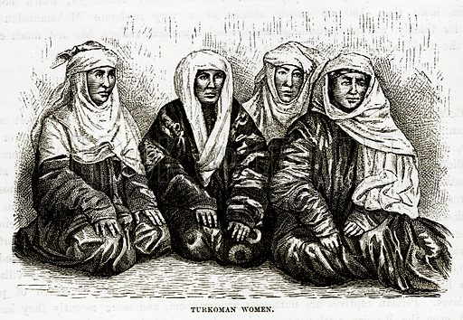 Turkoman Women. Illustration from The Countries of the World by Robert Brown (Cassell, c 1890).