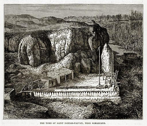 The Tomb of Saint Daniar-Palvan, near Samarcand. Illustration from The Countries of the World by Robert Brown (Cassell, c 1890).