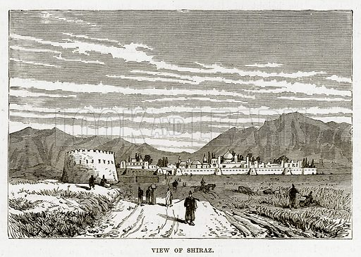 View of Shiraz. Illustration from The Countries of the World by Robert Brown (Cassell, c 1890).