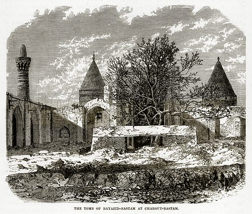 The Tomb of Bayazid-Bastam at Charout-Bastam. Illustration from The Countries of the World by Robert Brown (Cassell, c 1890).