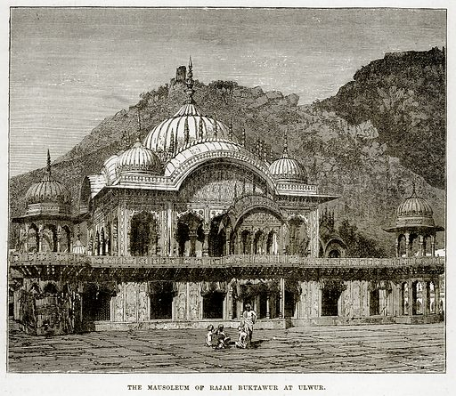 The Mausoleum of Rajah Buktawur at Ulwur. Illustration from The Countries of the World by Robert Brown (Cassell, c 1890).