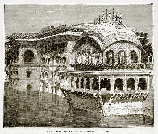 The Gopal Bhovan in the Palace of Digh. Illustration from The Countries of the World by Robert Brown (Cassell, c 1890).