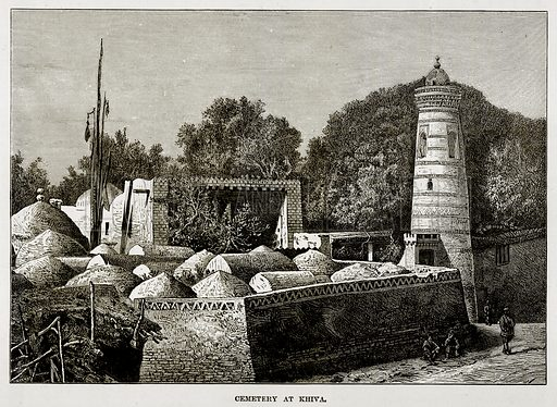 Cemetery at Khiva. Illustration from The Countries of the World by Robert Brown (Cassell, c 1890).