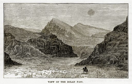 View of the Bolan Pass. Illustration from The Countries of the World by Robert Brown (Cassell, c 1890).