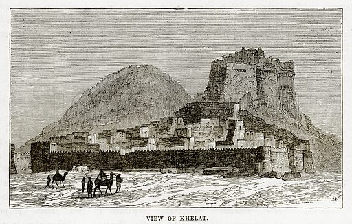 View of Khelat. Illustration from The Countries of the World by Robert Brown (Cassell, c 1890).