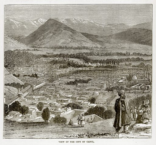 View of the City of Cabul. Illustration from The Countries of the World by Robert Brown (Cassell, c 1890).