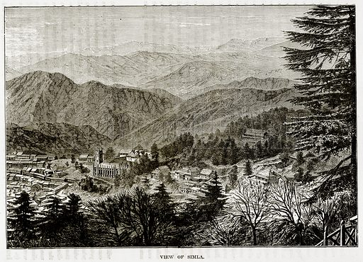 View of Simla. Illustration from The Countries of the World by Robert Brown (Cassell, c 1890).