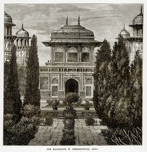 The Mausoleum of Etmaddowlah, Agra. Illustration from The Countries of the World by Robert Brown (Cassell, c 1890).