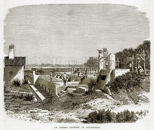 An Indigo Factory at Allahabad. Illustration from The Countries of the World by Robert Brown (Cassell, c 1890).