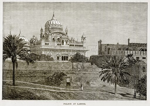 Palace at Lahore. Illustration from The Countries of the World by Robert Brown (Cassell, c 1890).