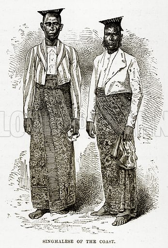 Singhalese of the Coast. Illustration from The Countries of the World by Robert Brown (Cassell, c 1890).