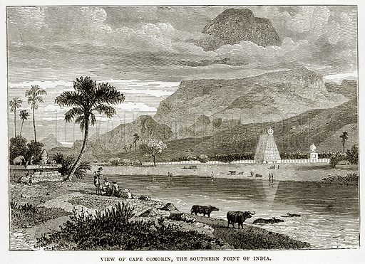 View of Cape Comorin, the Southern Point of India. Illustration from The Countries of the World by Robert Brown (Cassell, c 1890).