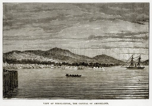 View of Nikolaievsk, the Capital of Amoorland. Illustration from The Countries of the World by Robert Brown (Cassell, c 1890).
