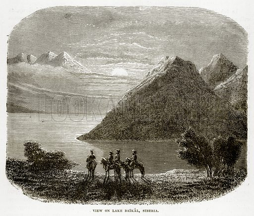 View on Lake Baikal, Siberia. Illustration from The Countries of the World by Robert Brown (Cassell, c 1890).