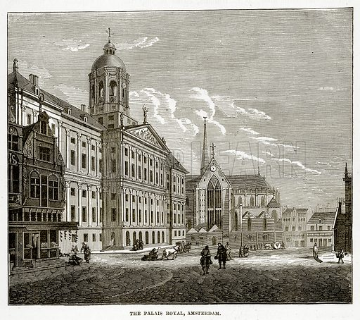 The Palais Royal, Amsterdam. Illustration from The Countries of the World by Robert Brown (Cassell, c 1890).