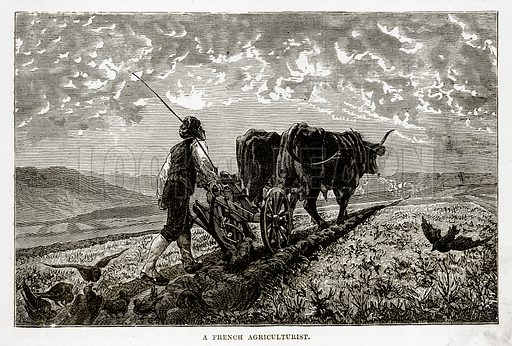 A French Agriculturist. Illustration from The Countries of the World by Robert Brown (Cassell, c 1890).