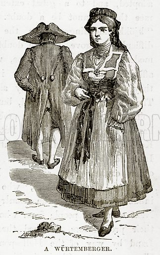 A Wurtemberger. Illustration from The Countries of the World by Robert Brown (Cassell, c 1890).