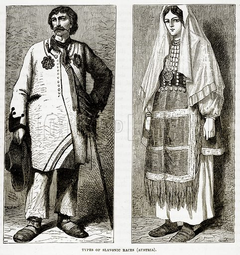 Types of Slavonic Races (Austria). Illustration from The Countries of the World by Robert Brown (Cassell, c 1890).