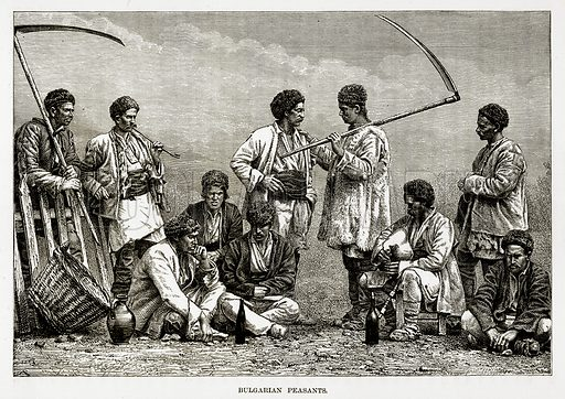 Bulgarian Peasants. Illustration from The Countries of the World by Robert Brown (Cassell, c 1890).
